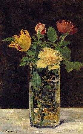 rosen und tulpen in einer vase wikipedia. Black Bedroom Furniture Sets. Home Design Ideas