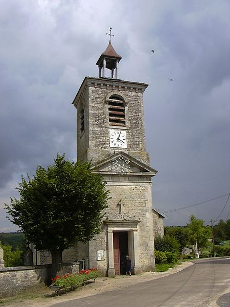 Saint Nicolas' church in Lamothe-en-Blaisy (Haute-Marne, Champagne-Ardennes, France).
