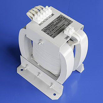 Transformer - Low power, single phase transformer OSM1-0.63kVA 380/220-24-12-5 V.