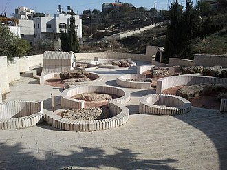 Old Jewish cemetery, Hebron - The refurbished plots in the Sephardic section of the Hebron cemetery. Many Jews escaped the Spanish Inquisition by returning to Israel.