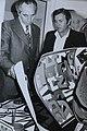 שר ההסברה שמעון פרס עם מנכ״ל ההסברה יהודה אילן 1974.jpg