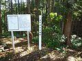 赤谷山城の標柱と解説版.jpg