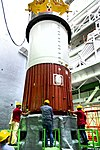 02 placement of nozzle end segment of pslv-c42 first stage over the launch pedestal.jpg