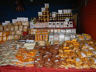 Bocaue, Bulacan - Locally-made food products in a Bocaue store