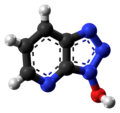 1-Hydroxy-7-azabenzotriazole molecule ball from xtal.png
