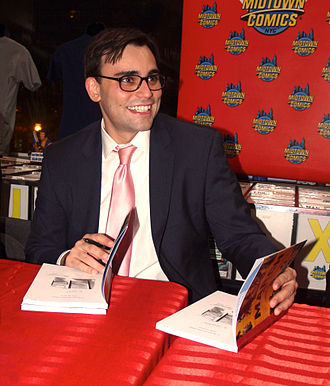 Andrew Aydin - Aydin at a book signing for March: Book One at Midtown Comics in Manhattan