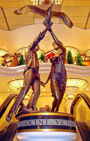 Dodi Fayed - Innocent Victims, the second of two memorials in Harrods.