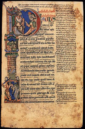 God in Christianity - A 12th-century copy of the Pauline Epistles