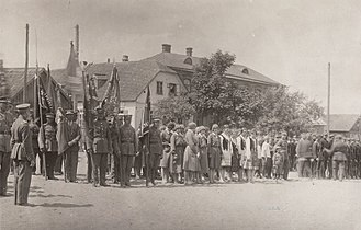 Lithuanian Riflemen's Union - Event of the 12th Regiment of the Lithuanian Riflemen Union in Panevėžys in 1930