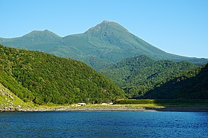 Mount Rausu - View from Sea of Okhotsk (August 2014)