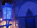 142 Catedral, portal de Sant Iu, i fanal, durant el festival Llum BCN.JPG