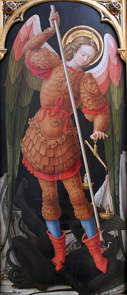 1486 Vivarini Archangel Michael with soul balance anagoria