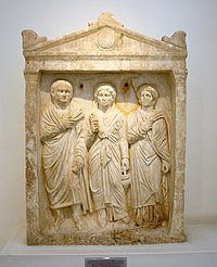 1499 - Archaeological Museum, Athens - Grave stele - Photo by Giovanni Dall'Orto, Nov 13 2009.jpg