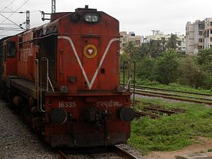 Indian locomotive class WDM-3A - A WDM-3A hauling a passenger train