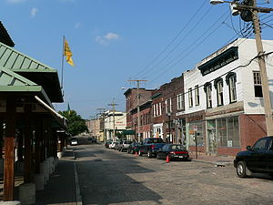 Shockoe Bottom - View north on 17th Street