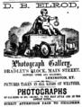 1864 D B Elrod photographer advert Main Street in Lexington Kentucky.png