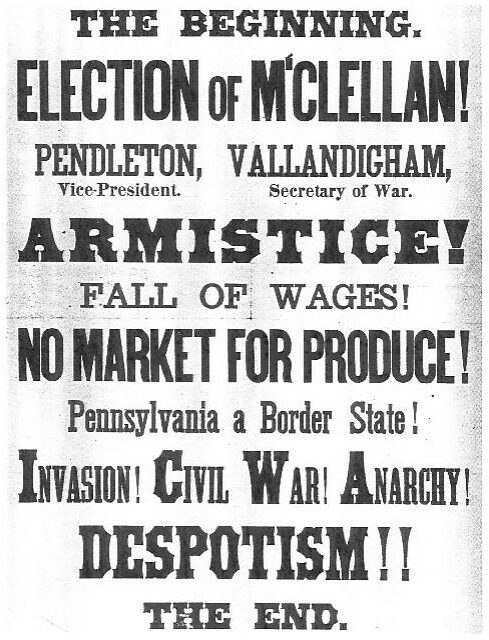 1864 US election poster