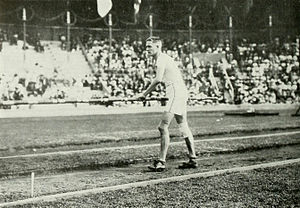 Athletics at the 1912 Summer Olympics – Men's pole vault - Harry Babcock on the way to win the gold medal.