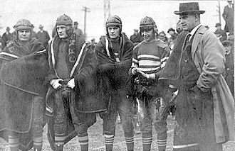 1919 Centre Praying Colonels football team - Centre players after the defeat of West Virginia