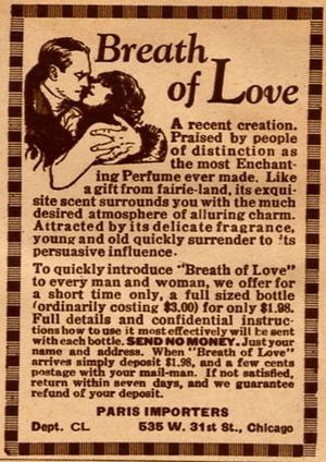 "1926 US advertisement for perfume ""The Br..."