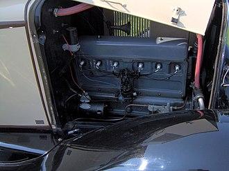 Chevrolet straight-6 engine - Image: 1929 Chevrolet 2 door sedan engine