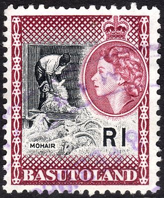 Basutoland - Postage stamp with portrait of Queen Elizabeth II, 1963