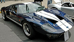 A Roaring Forties Replica Of A  Ford Gt In Shelby Livery On Display At The  United States Grand Prix