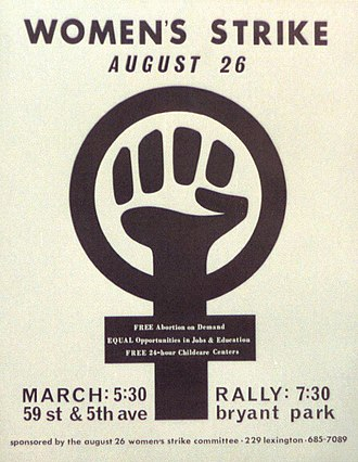 Women's Strike for Equality - Image: 1970s women's strike poster (cropped)