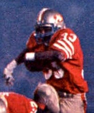 Super Bowl XIX - Image: 1986 Jeno's Pizza 28 Roger Craig (Roger Craig crop)
