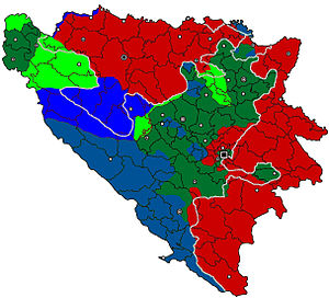 Split Agreement - Image: 1995 Croat and Bosniak Counteroffensives