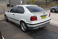 1996 BMW 316i (E36) hatchback (20095824358).jpg