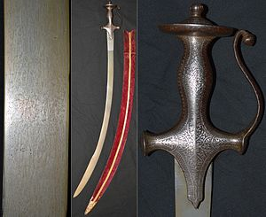 Talwar - Image: 19th century Indian tulwar sword 1