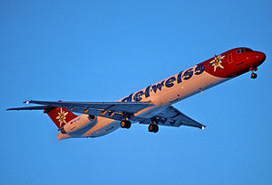 Edelweiss Air - A now retired Edelweiss Air McDonnell Douglas MD-83 in 1997