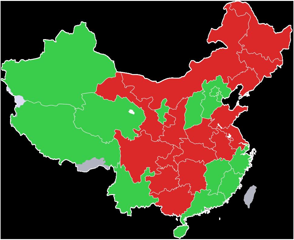 2000-2010 China Population Distribution Change