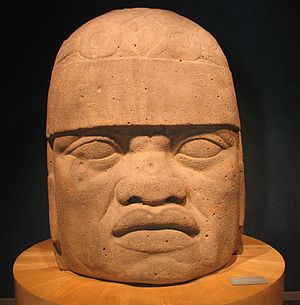 Olmec alternative origin speculations - San Lorenzo Tenochtitlán Colossal Head 6, a 3-meter-high Olmec sculpture with lips and nose said to resemble African facial features.