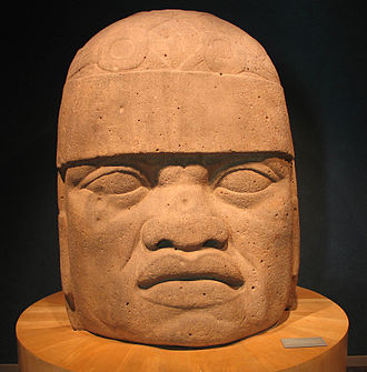 "Yakub (Nation of Islam) - One of the Olmec heads claimed to demonstrate the existence of a big-headed ""Negro race"" in America"
