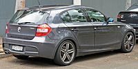 BMW Serie 1 hatchback.