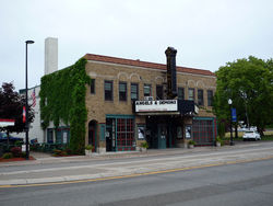The Heights Theater is a local landmark