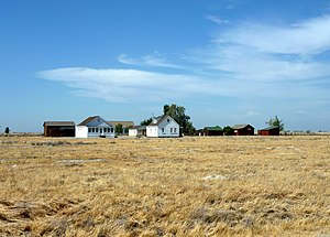 Colonel Allensworth State Historic Park - The restored buildings in Allensworth rise from the San Joaquin Valley