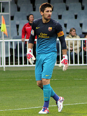Oier Olazábal - Olazábal playing for Barcelona B in 2012