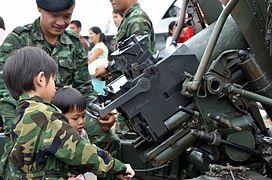 2012 Children's Day Chiang Mai artillery.JPG