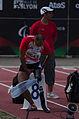 2013 IPC Athletics World Championships - 26072013 - Atsushi Yamamoto of Japan preparing for the Men's 100m - T42.jpg
