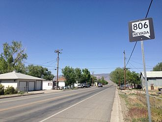 Nevada State Route 806 - View north along SR 806 in Battle Mountain, Nevada