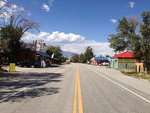 Baker, Nevada - Main Street (State Route 487) in Baker