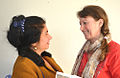 201403-10 Assunta Verrone von der Accademia di Ipazia und Gil Maria Koebberling vom Freundeskreis Hannover.jpg