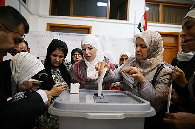 2014 Syrian presidential election day in Damascus (6).jpg