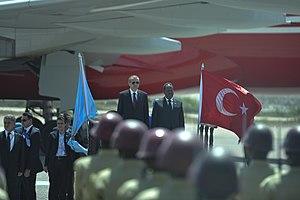 Somalia–Turkey relations - Former Somali President Hassan Sheikh Mohamud welcomes Erdoğan in Mogadishu, 25 January 2015