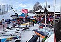2015 Bobsleigh World Cup in St. Moritz - sleds and starting line.JPG
