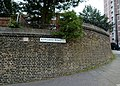 2015 London-Woolwich, Red Barracks wall 05.JPG