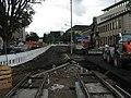 2017-09-12, Stadtbahnbau auf dem Freiburger Rotteckring, Vorbereitung für den Gleisbau 2.jpg